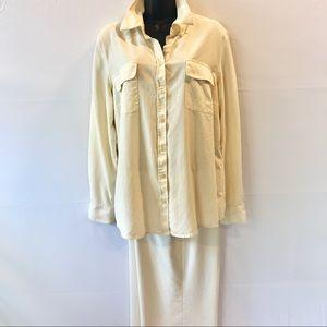 Cream 2 pc pants set